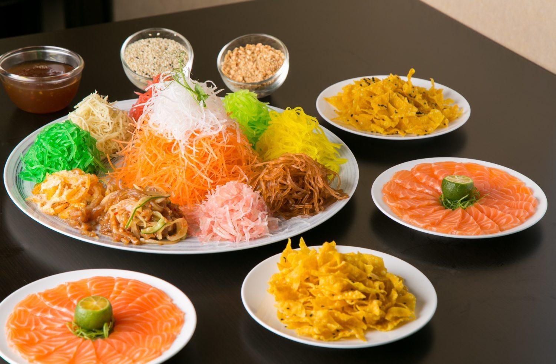 Prosperity Salmon Fish Yu Shang with Fruit Salad