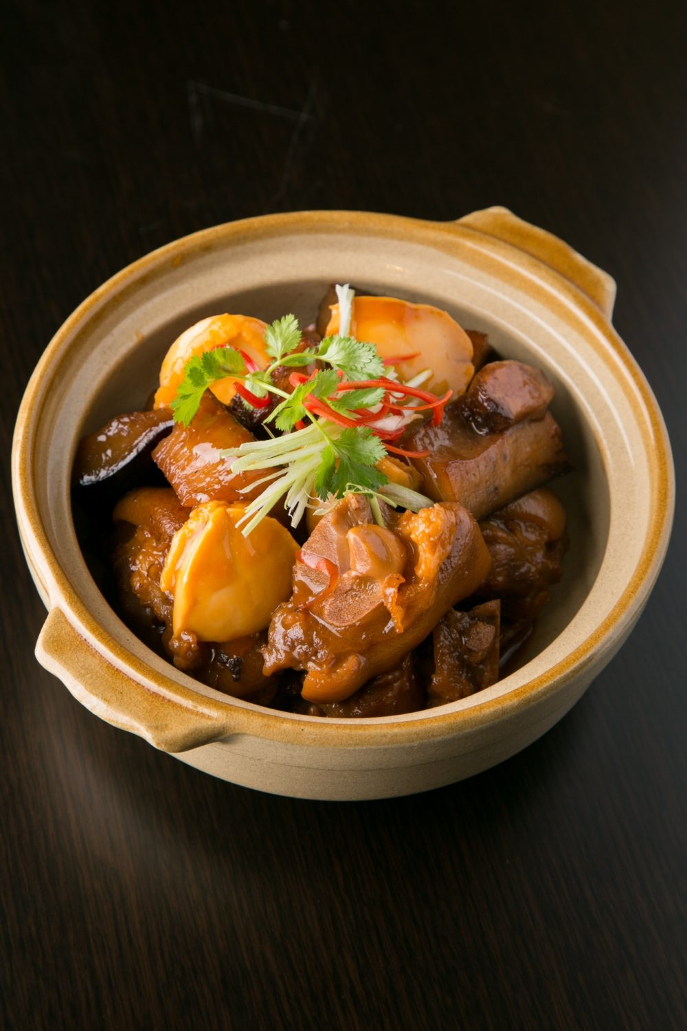 Slow cook Supreme Sea Cucumber with Abalone, pork knuckle in a Clay pot (2)