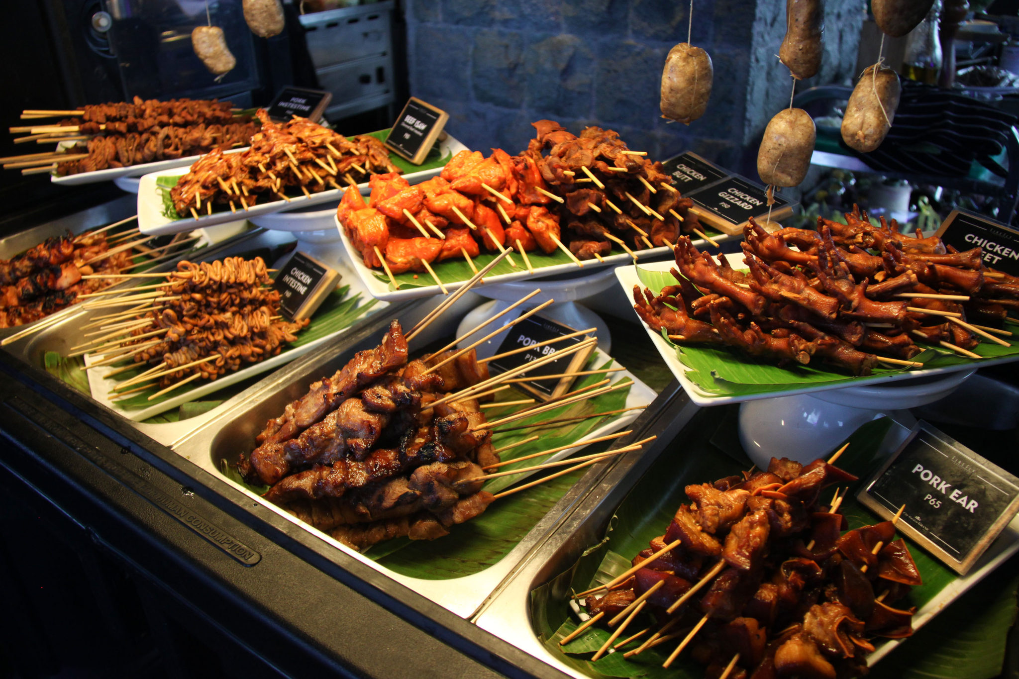 Firefly roofdeck offers a festive pinoy style street food for Terrace 33 makati menu